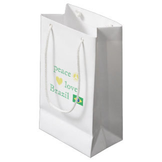 Peace Love Brazil Small Gift Bag