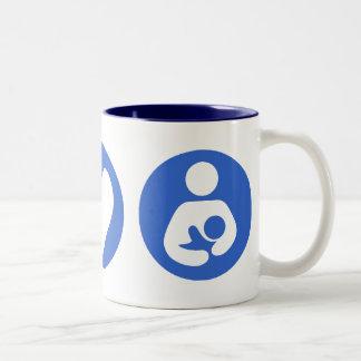 Peace Love Breastfeeding Coffee Mugs