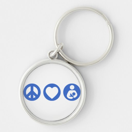 Peace Love Breastfeeding Key Chains