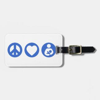 Peace Love Breastfeeding Luggage Tag