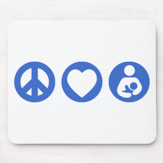 Peace Love Breastfeeding Mouse Pad
