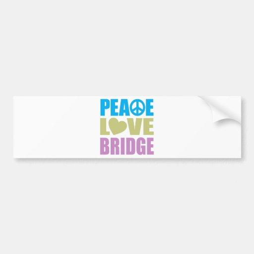 Peace Love Bridge Car Bumper Sticker