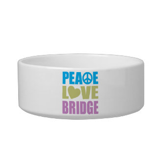 Peace Love Bridge Pet Bowl