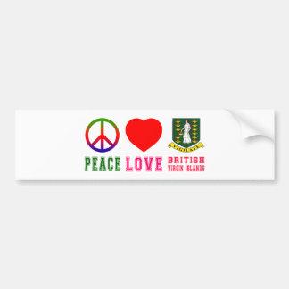 Peace Love British virgin islands Car Bumper Sticker