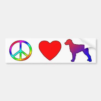 Peace Love Brittany Spaniels Bumper Sticker