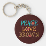 Peace Love BROWN - Senator Scott BROWN NH Key Chain