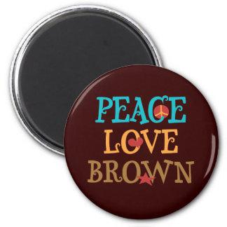 Peace Love BROWN - Senator Scott BROWN NH Magnet