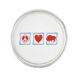 Peace Love Buffalo squares Pin