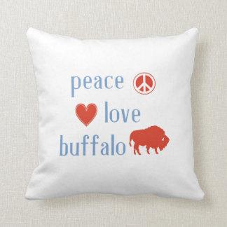 Peace Love Buffalo Throw Pillow