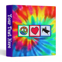 Peace, Love, Bull Riding Binder