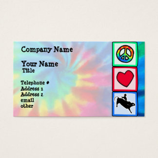 Peace, Love, Bull Riding Business Card