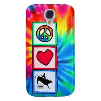 Peace, Love, Bull Riding Samsung Galaxy S4 Covers