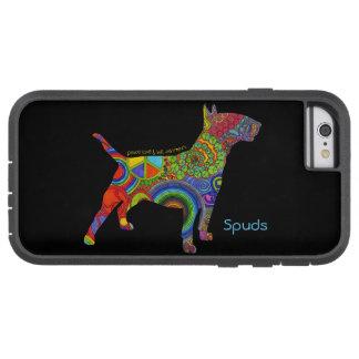 """Peace Love & Bull Terriers"" Pop Art iPhone Case"
