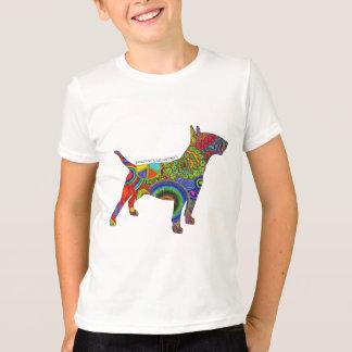 """""""Peace Love & Bull Terriers"""" Pop Art Kids Tee"""