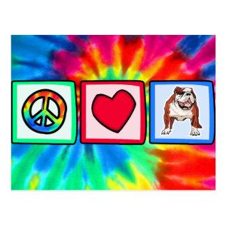 Peace, Love, Bulldogs Postcard