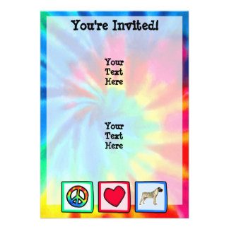 Peace Love Bullmastiffs Custom Invitation