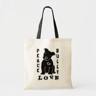 Peace Love Bully 2.0 Tote Bags