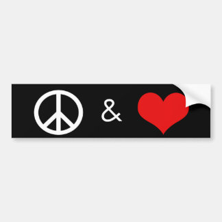 Peace & Love Bumper Sticker