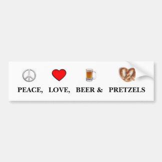 Peace, Love... Bumper Sticker