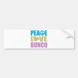 Peace Love Bunco Bumper Sticker