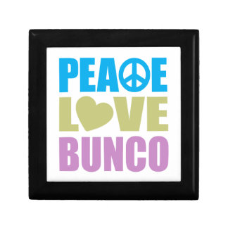 Peace Love Bunco Keepsake Box