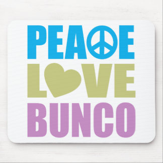 Peace Love Bunco Mouse Pad