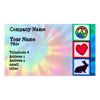 Peace, Love, Bunnies Double-Sided Standard Business Cards (Pack Of 100)