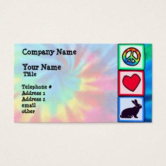 Peace, Love, Bunnies Business Card