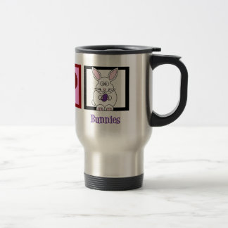 Peace Love Bunnies 15 Oz Stainless Steel Travel Mug