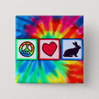 Peace, Love, Bunnies Pinback Button