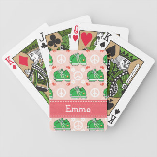 Peace Love Bunny Rabbit Bicycle Playing Cards