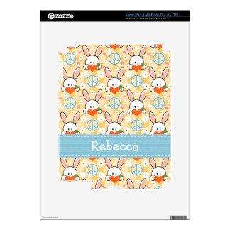 Peace Love Bunny Rabbit iPad 3 Skin