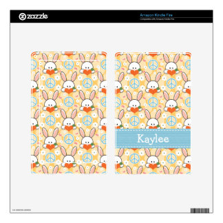 Peace Love Bunny Rabbit Kindle Fire Skin