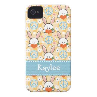 Peace Love Bunny Rabbits 4 4s Case-Mate Cover