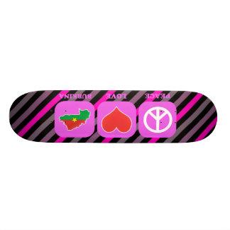 Peace Love Burkina Skate Board