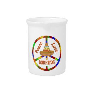 Peace Love Burritos Pitchers