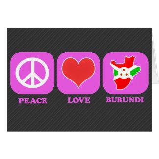 Peace Love Burundi Cards