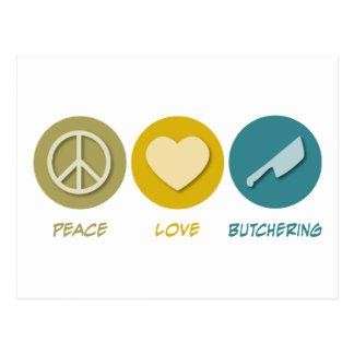 Peace Love Butchering Postcard