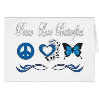 Peace Love Butterflies Greeting Card