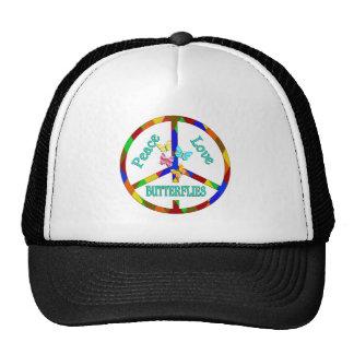 Peace Love Butterflies Trucker Hat