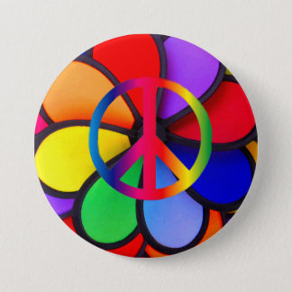 Peace & Love_ Button
