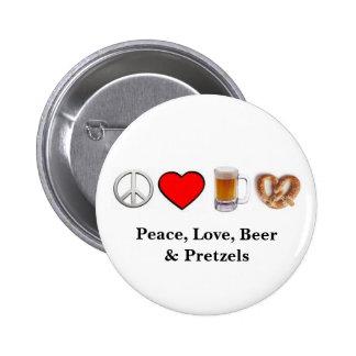 Peace, Love... Button