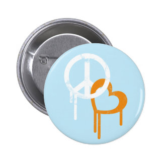 Peace & Love 2 Inch Round Button
