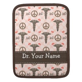 Peace Love Caduceus Doctor MD iPad Sleeve iPad 2/1