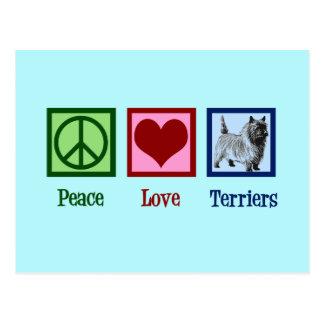 Peace Love Cairn Terrier Postcard