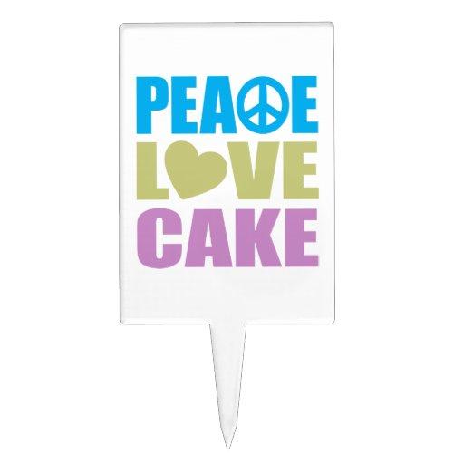 Peace Love Cake Cake Pick