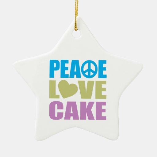Peace Love Cake Ornament