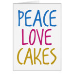 Peace Love Cakes Cards