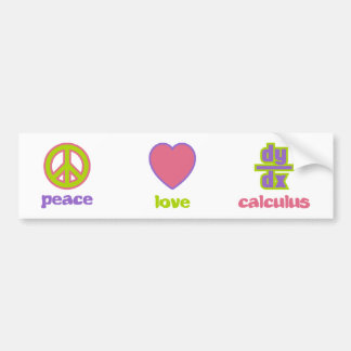 Peace, Love & Calculus Bumper Sticker