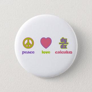 Peace, Love & Calculus Buttons